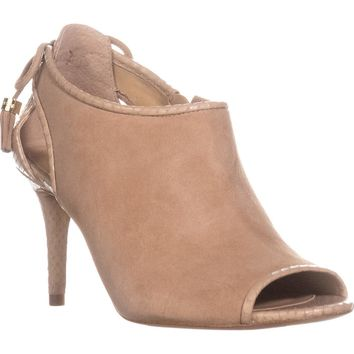 MICHAEL Michael Kors Jennings Mid Peep Toe Booties, Bisque, 7 US / 37 EU
