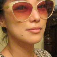 Large Italian Sunglasses Oversize / Exotique / Movie Star / Gorgeous Colors