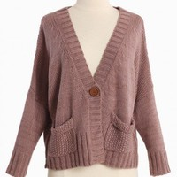 lavender lullaby knit cardigan