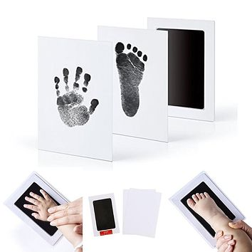 New 1Pc Newborn Baby Handprint Footprint Photo Frame Kit Non-Toxic Clean Touch Ink Pad