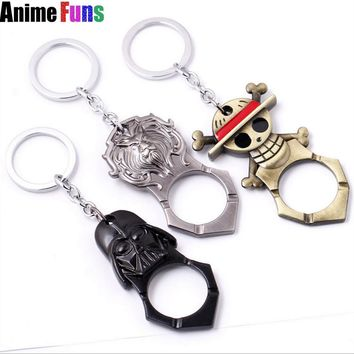 Star Wars Force Episode 1 2 3 4 5 Game Movie Anime  One Piece Logo Bar Beer Bottle Opener Keychain Alloy Pendant Key Ring Charm Birthday Gift -ship AT_72_6