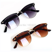 Vintage Retro Sunglasses Women Brand Designer Golden Frame Mirrored Sun Glasses