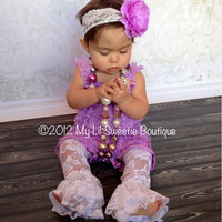 NEW Lavender Purple Lace Petti Romper - Newborn - Baby Girl - Toddler outfit- birthday outfit - Valentines Day- photo prop- Easter