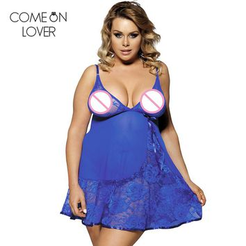 Brand new sexy lingerie hot blue lace see through sexy sleepwear ladies underwear babydoll G-string women nightdress RL80158