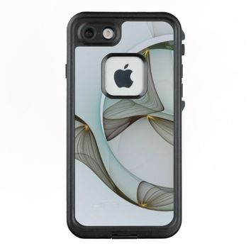 Abstract Modern Turquoise Brown Gold Elegance LifeProof® FRĒ® iPhone 7 Case