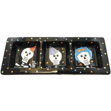 Halloween BOO BASH DIVIDED PLATE Ceramic 99313