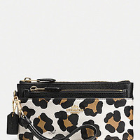 COACH ZIPPY WALLET WITH POP-UP POUCH IN OCELOT PRINT LEATHER | Dillards.com