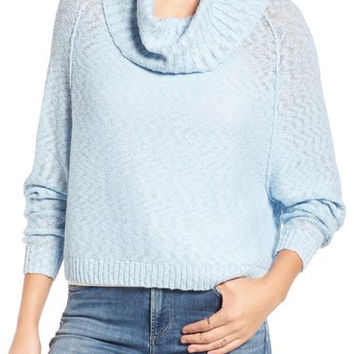 Slub Cowl Neck Sweater