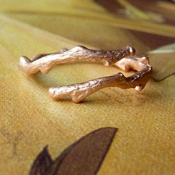 14k Gold Bypass Branch Ring