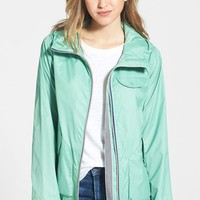 Petite Women's Bernardo Packable Hooded Rain Jacket