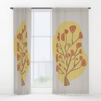 Modern floral forms 04 Window Curtains by naturalcolors