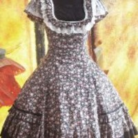 Black Cotton Floral Lace Sweet Lolita Dress - Milanoo.com