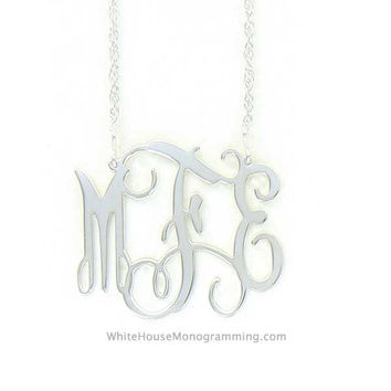 Filigree Monogram Necklace