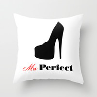 Mrs Perfect Throw Pillow Promoters