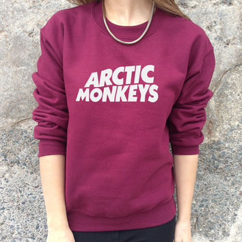 Arctic Monkeys Jumper Sweater Top Band Indie Rock Tumblr Fashion Hipster AM Sweatshirt