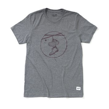 HELM T-Shirt - Boots on a Wire Gray