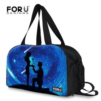 FORUDESIGNS Fashion Large Capacity Canvas Women Travel Bags Men Large Capacity Luggage Bags Leisure Bags Duffle Bags Travel Tote