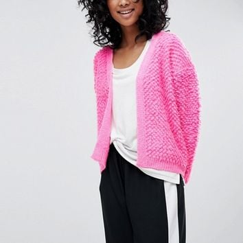 ASOS Cardigan With Bobble Stitch at asos.com
