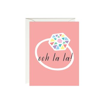 Ooh La La Engagement Congratulations Card