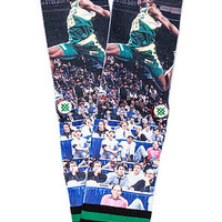 The NBA Legends Shawn Kemp Socks in Green & Yellow