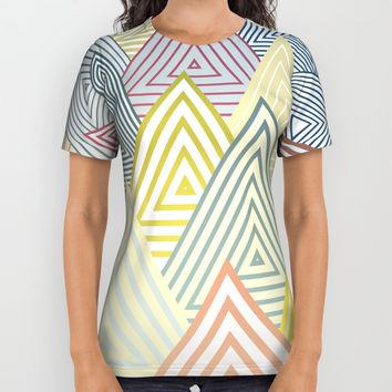Pastel Mountains All Over Print Shirt by angelocerantola
