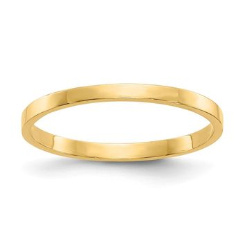 14K Yellow Gold High Polished Band Childs Ring