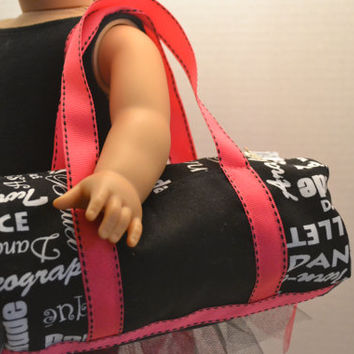 American Girl Doll, 18 in doll- Dance Duffel bag