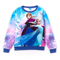 Blue & Pink Elsa Sweatshirt - Girls | zulily