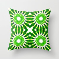 Serene Green Throw Pillow by 2sweet4words
