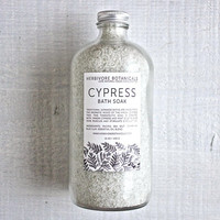 NEW Cypress + Mint Large Bath Soak. 16 oz. 100% Natural. Vegan.