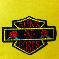 Vintage Original Embroidered Guns n Roses Patch 80s