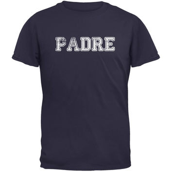 Fathers Day - Padre Navy Adult T-Shirt