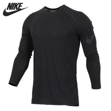 Original New Arrival 2018 NIKE Breathe Elite Men's  T-shirts  Long sleeve Sportswear