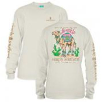 *Closeout* Simply Southern Long Sleeve Tees- Camel