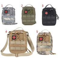 2017 Outdoor Pack First Aid Kit Wilderness Black First Aid Pouch Medical Bag Military First Aid Kits Survival Kit Hiking Package