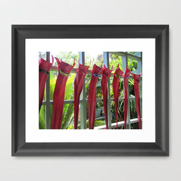 Palm Fronds Lounging Framed Art Print by Rosie Brown | Society6