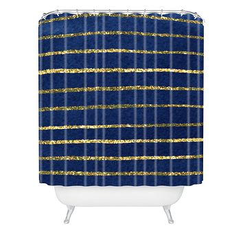 Social Proper Nautical Sparkle Shower Curtain