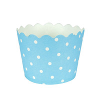 Pastel Blue Baking Cups with Polka Dots/Case of 144