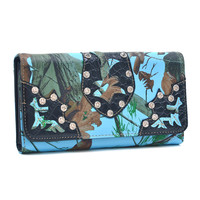 Realtree Faux Leather Tri-fold Wallet with Rhinestone