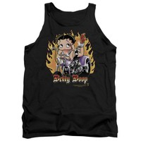 Betty Boop - Biker Flames Boop Adult Tank