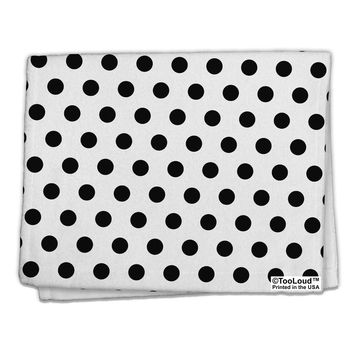 "Black Polka Dots on White 11""x18"" Dish Fingertip Towel All Over Print by TooLoud"