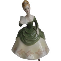 "Royal Doulton ""Soiree"" Vintage Figurine Lady 1966 Made in England"