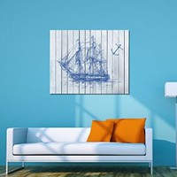 canik186 Canvas Print Artwork Stretched Gallery Wrapped Wall Art Painting ship frigate sea anchor Size 26x32""