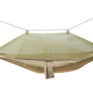 Patio Bliss Hammock in a Pocket WITH MOSQUITO NET - Desert Storm