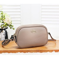 Coach Fashion New Leather Leisure Solid Color Shoulder Bag Crossbody Bag Women