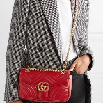 Gucci Gg Marmont Small Quilted Leather Shoulder Bag #1383