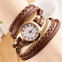 Womens Girls Handmade Band Strap Bracelet Watch Best Gift watches-444