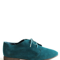 Rich Plume Lace-Up Oxfords in Teal - $35.00 : ThreadSence, Women's Indie & Bohemian Clothing, Dresses, & Accessories
