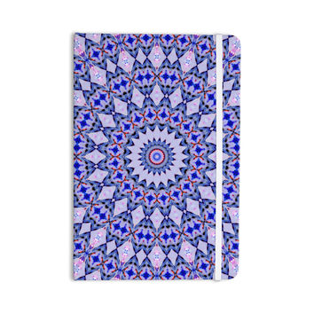 "Iris Lehnhardt ""Kaleidoscope Blue"" Circle Blue Everything Notebook"