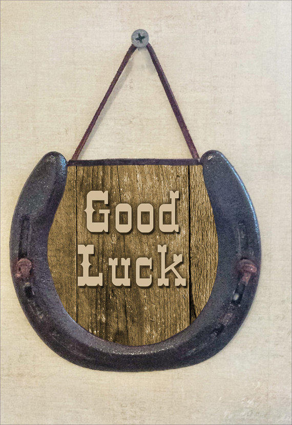 Rustic Good Luck Horseshoe Wall Hanging From